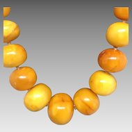 Beautiful Egg Yolk Amber Long Necklace