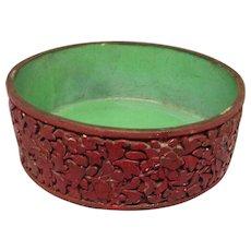 Chinese Cinnabar Bowl