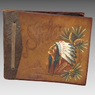 Leather Scrapbook Indian Design 1930's