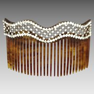 Hair Comb with Fine Rhinestone Design