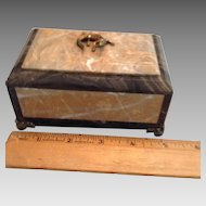 Turn of Century French Marble Box With Lizard