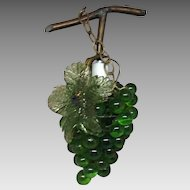 Green Glass Hanging Grape Light