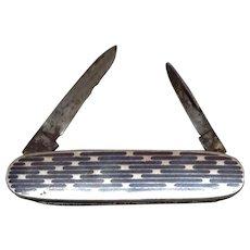 Silver Knife, Black Enamel