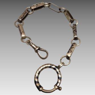 Silver. Niello Watch Chain