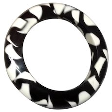 Large Chunky Black and White Bracelet