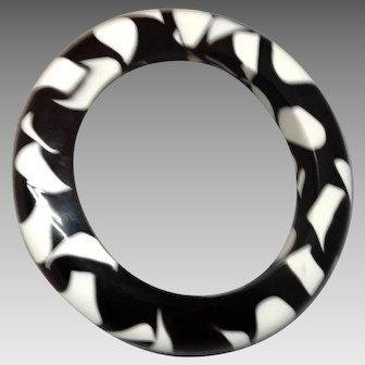 Large Chunky Black and White Bracelet