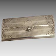 Russian Silver Case for Cigars