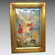 Italian Ceramic Angel Plaque