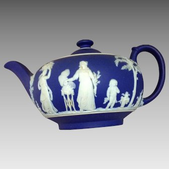 Wedgewood Cobalt and White Tea Set