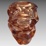 Deco Peach Blown Dynamic Design Vase