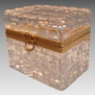Beautiful Baccarat Cut Glass Box