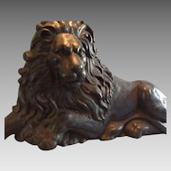 19th Century Magnificent Cast Iron English Lion