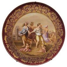 A Large Antique Royal Vienna Porcelain Charger