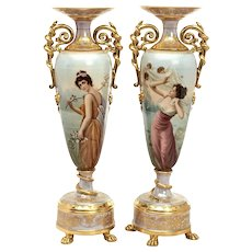 A Magnificent Pair of Royal Vienna Porcelain Vases