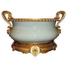 A Fine Porcelain & Gilt Bronze Mounted Centerpiece, 19th Century