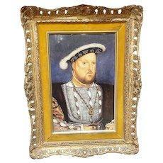 A Fantastic English Porcelain Plaque of King Henry VIII, after Holbein