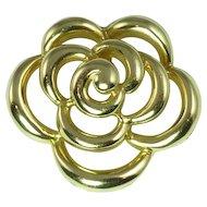 Van Cleef & Arpels Late 20th Century 18kt Gold Floral Motif Pendant