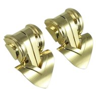 Pair of Mid-20th Century Signed Tiffany & Co. 14kt Gold Dress Clips
