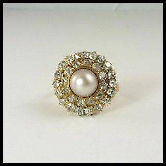 Spectacular GIA-Certified Natural Pearl Diamond & 14kt Rose Gold Ring