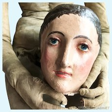 1800's Rare Lay Figure Head Artist Mannequin Articulated