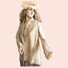 1920's French Flapper Opera Cape Theater Coat Costume Charleston