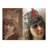 Antique Very Rare French Theatre Hat Costume