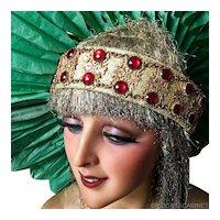 Antique Showgirl Follies Bergeres Headdress Headband Headpiece Theater