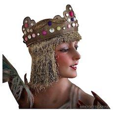 Antique Theater Stage Crown Headdress Headpiece Jewelry Gemstone Cabaret