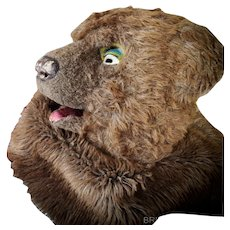 1930/40s French Theatre Bear Mask Costume Home Decoration
