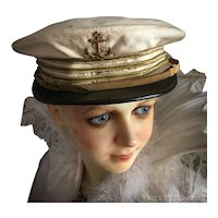 Antique French Theater Sailor hat Cabaret Costume
