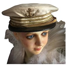Antique French Theater Sailor hat Cabaret Costume