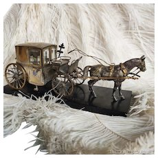 Rare Horse Carriage Palais Royale Trinket Perfume Set Bottle Display