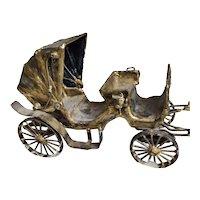 Vintage Folk Art Carriage Buggy Doll Interior Design Poupee Display