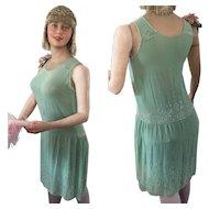 Original 1920's Flapper Beaded Dress Mannequin Charleston