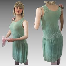 Original 1920's Flapper Beaded Dress Mannequin Charleston