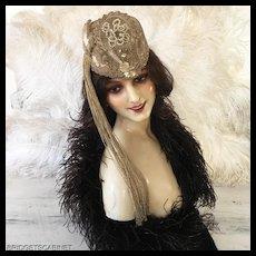 1930's Art Deco Paris Original Lido Showgirl Theater Stage Burlesque Headdress