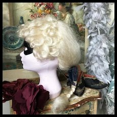 """Antique French """"Yak"""" Opera Theater Stage Wig Barber Shop"""