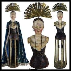1700's Rare Madonna Santos Cage Doll Virgin Mannequin Religious Italian