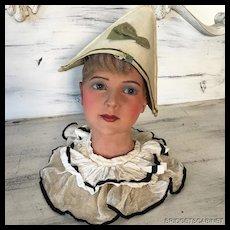 1920's Wax Mannequin Child Bust Doll P. Imans