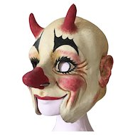 1930's French Clown Mask Circus Cabaret Theater Mannequin Fairground