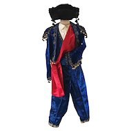 1920's Child Matador Velvet Costume Gold Metal Thread Embroidery Mannequin