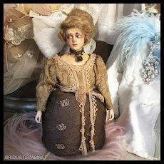 1920's German Lilli Baitz Composition Half Doll Boudoir Vanity