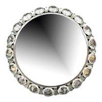 1950's Bakalowits Crystal Diamond Backlit Mirror Glass Chrome Austria