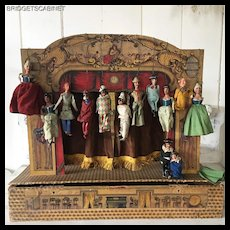 Early1900's Italian Toy Commedia dell'arte Puppet Theater Box
