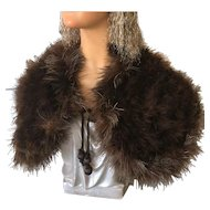 Original 1920's Flapper Marabou Feather Cape Mannequin