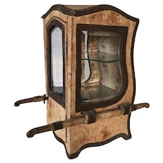 19th. Century French Sedan Chair Doll Boudoir Vitrine Boudoir