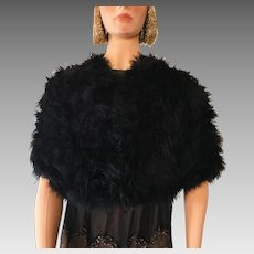 Original 1920's Flapper Feather Cape Throw Jacket Mannequin Gatsby