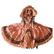 1920's French Boudoir Sofa Doll Fashion Flapper Charleston Dress