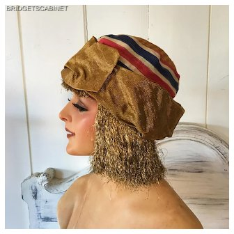 French Flapper Cloche Hat Gatsby 1920 Charleston Headdress