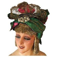 Rare 1920's Theater Stage Hat Headdress French Folies Opera